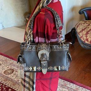 Montana west western bling bling buckled handbag